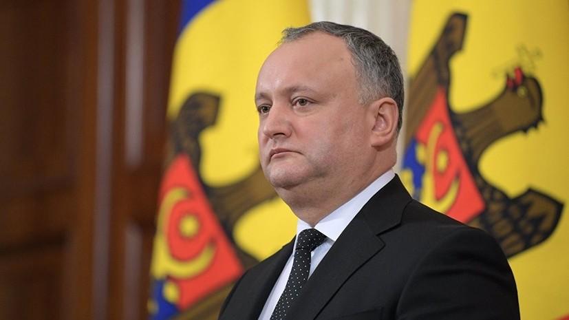 Додон поблагодарил власти России за амнистию для нелегалов из Молдавии