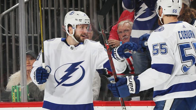 Заявка на «Арт Росс Трофи»: Кучеров набрал четыре очка в одном матче и вошёл в тройку лучших бомбардиров НХЛ