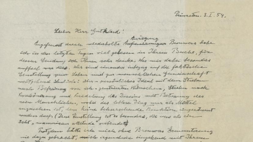 Письмо Эйнштейна продали на аукционе за $2,8 млн