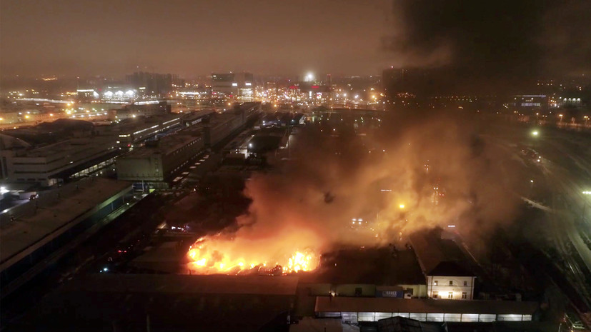 In St  Petersburg extinguished a fire in a paper warehouse