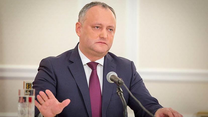 Додон заявил, что Молдавия следит за ситуацией на границе с Украиной