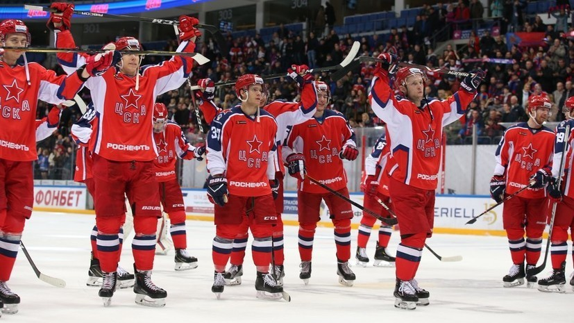 ЦСКА одержал 17-ю победу подряд в КХЛ, победив «Авангард»
