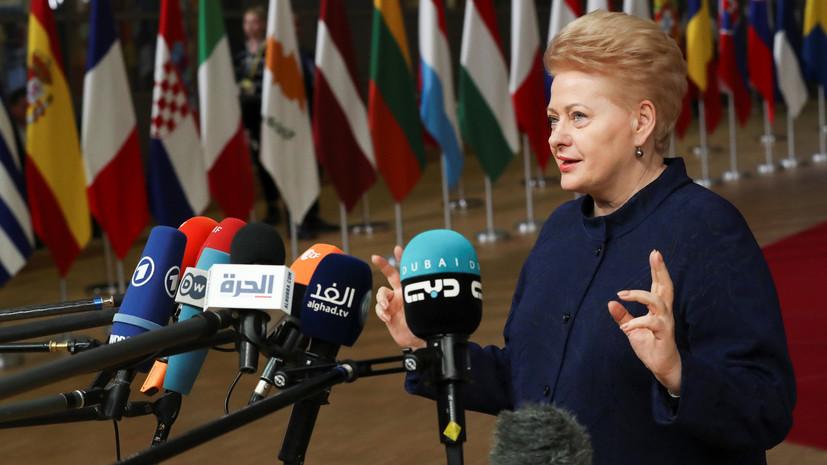 Литва ввела санкции против России
