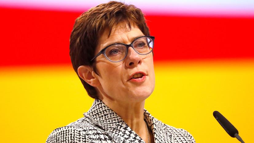 Во второй тур выборов главы ХДС вышли Крамп-Карренбауэр и Мерц