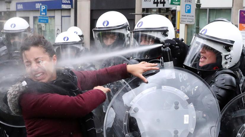 В Бельгии полиция задержала 450 участников протестов «жёлтых жилетов»