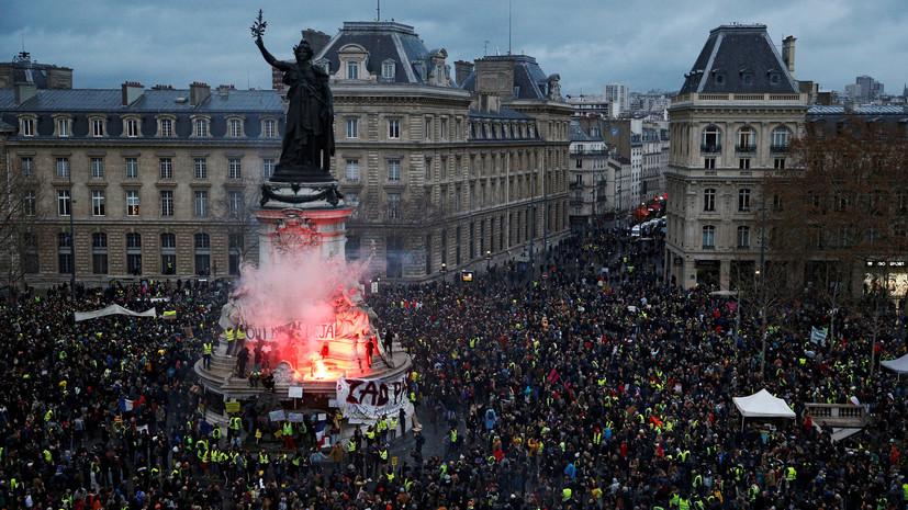 «Кризис небывалого масштаба»: во Франции задержано рекордное число участников протестов «жёлтых жилетов»