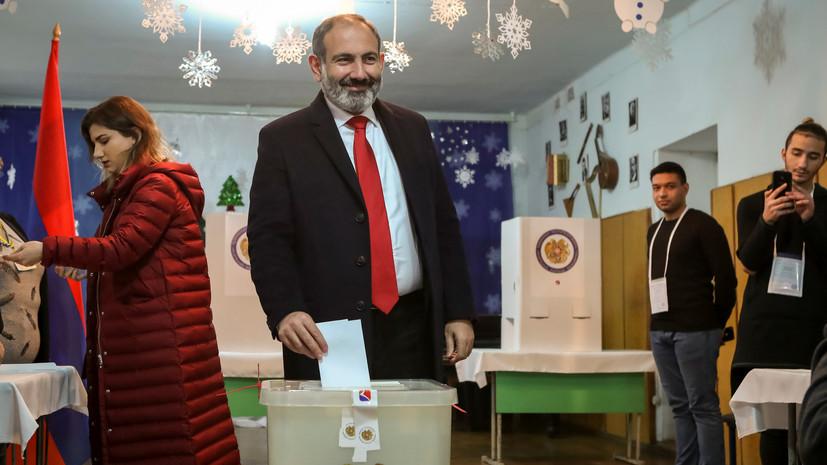 Пашинян проголосовал на парламентских выборах в Армении