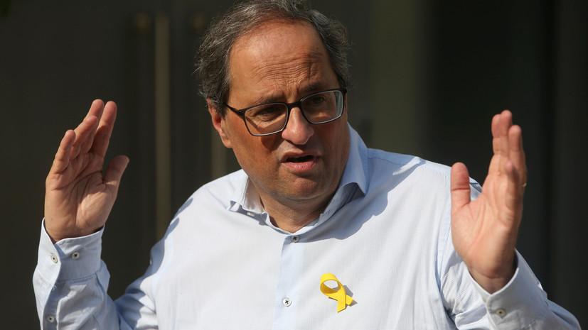 Глава Каталонии объявил о двухдневной голодовке