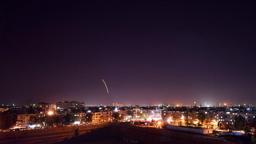SANA: системы ПВО Сирии отразили атаку в районе аэропорта Дамаска