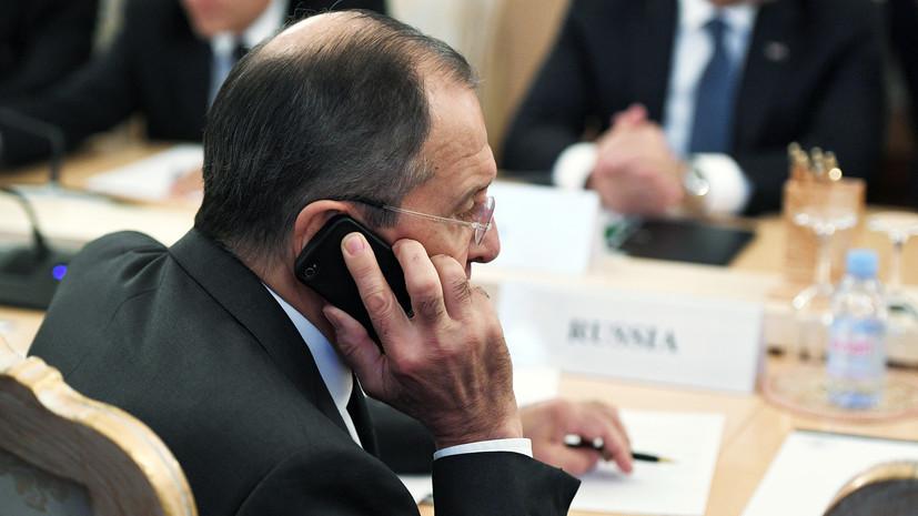 В МИД Ирана рассказали о переговорах Лаврова и Зарифа по Сирии