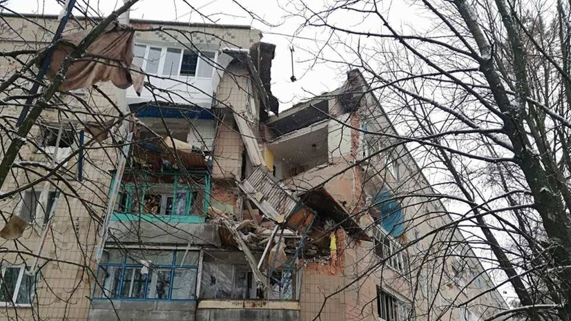 На Украине из-за взрыва газа в доме обрушилось несколько этажей
