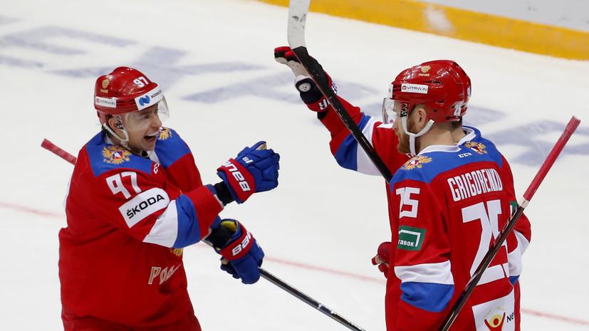 Сборная России по хоккею забросила семь шайб в ворота Чехии на Кубке Первого канала