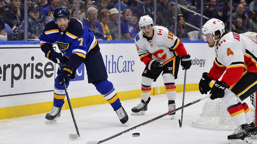 «Сент-Луис» с Тарасенко и Барбашёвым разгромно проиграл «Калгари» в матче НХЛ