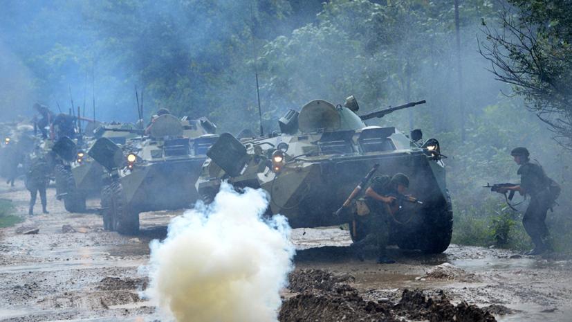 Военные России и Абхазии отработали действия в обороне с применением беспилотников
