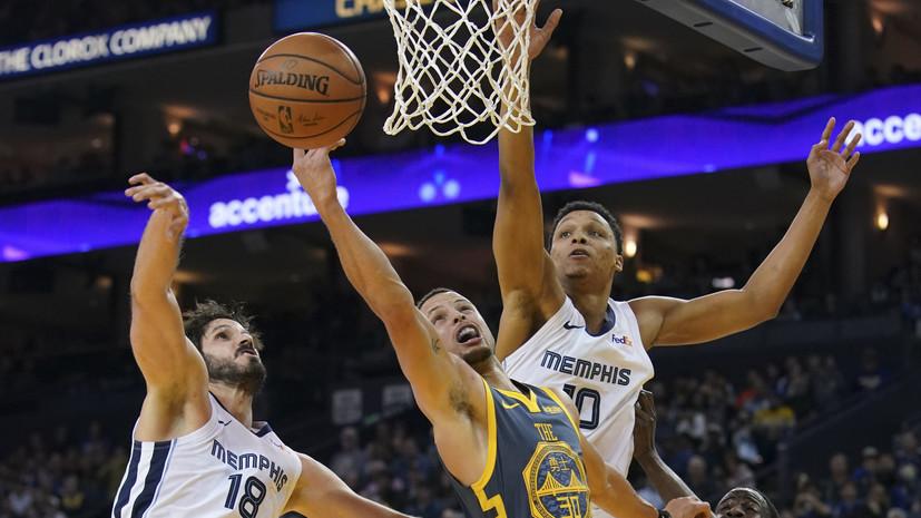 «Голден Стэйт» обыграл «Мемфис» в НБА, Дюрант набрал 23 очка