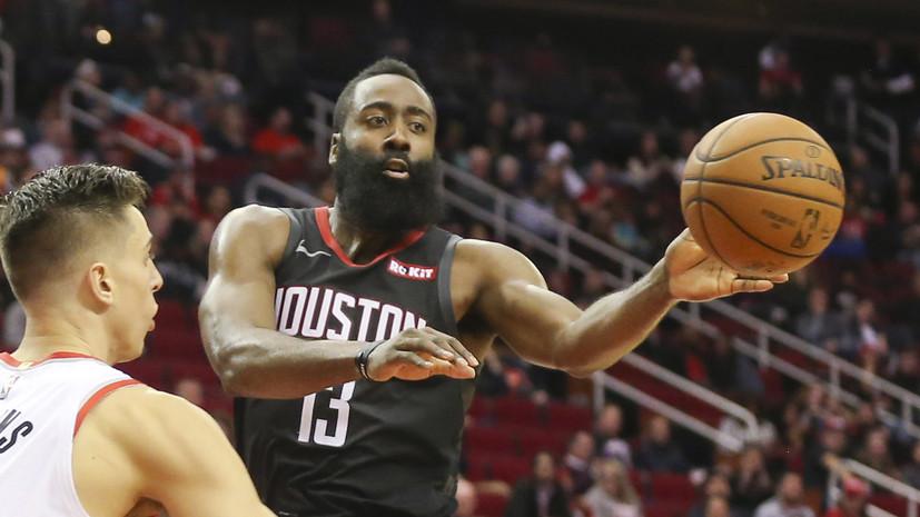 47 очков Хардена помогли «Хьюстону» одолеть «Юту» в НБА