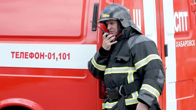В Томске загорелся строительный гипермаркет