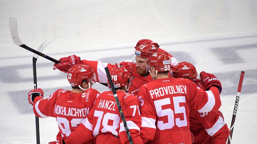 «Спартак» разгромил «Йокерит» в матче КХЛ