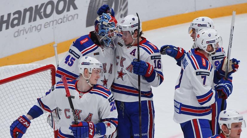 СКА обыграл «Слован» в матче КХЛ