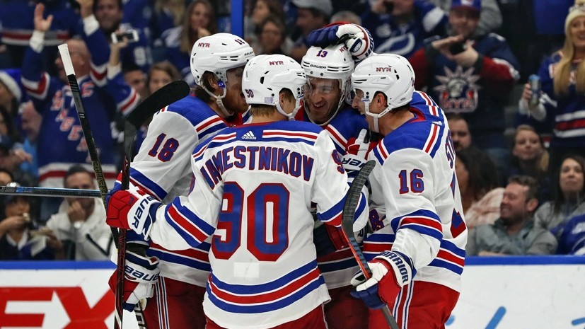 «Рейнджерс» победил «Анахайм» в НХЛ, Наместников набрал три очка
