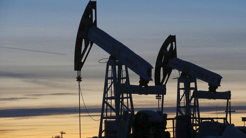 Цена нанефть марки WTI растёт