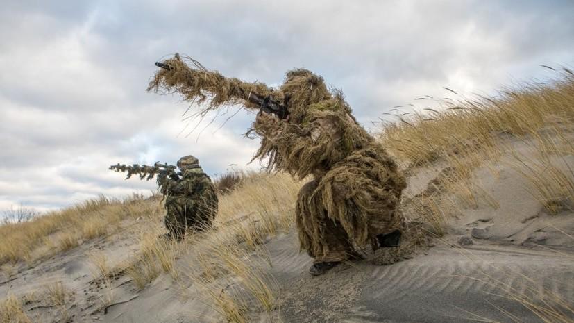 В Калининградской области снайперы Балтфлота проводят ночные стрельбы