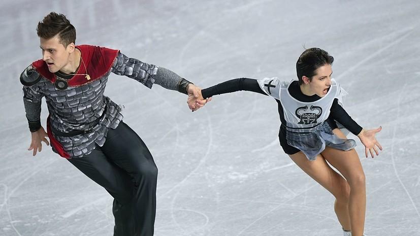 Забияко и Энберт тренировались с мечами на льду при подготовке к короткой программе ЧР