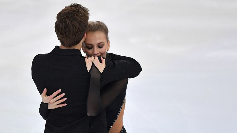 Танцоры на льду Синицина и Кацалапов выиграли короткую программу на ЧР в Саранске