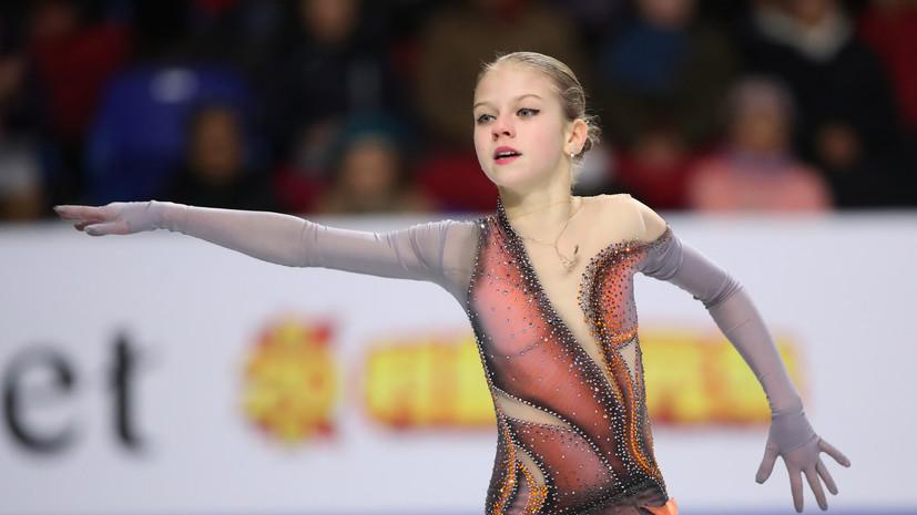 Трусова рассказала, какие цели ставит перед собой на ЧР по фигурному катанию