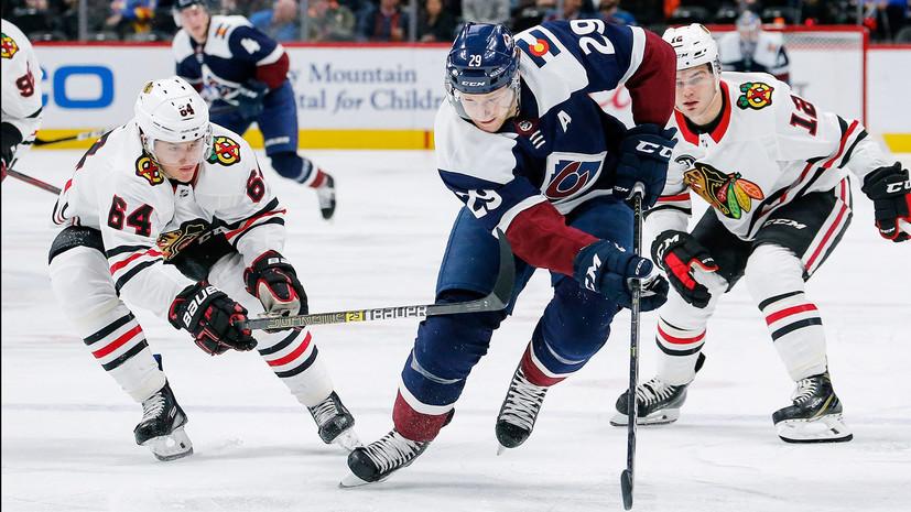 Гол Анисимова принёс «Чикаго» победу над «Колорадо» в НХЛ