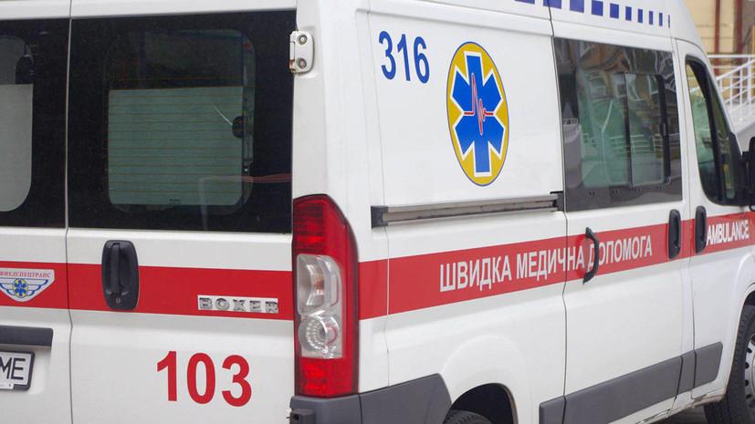 Пожар произошёл на рождественской ярмарке в центре Львова