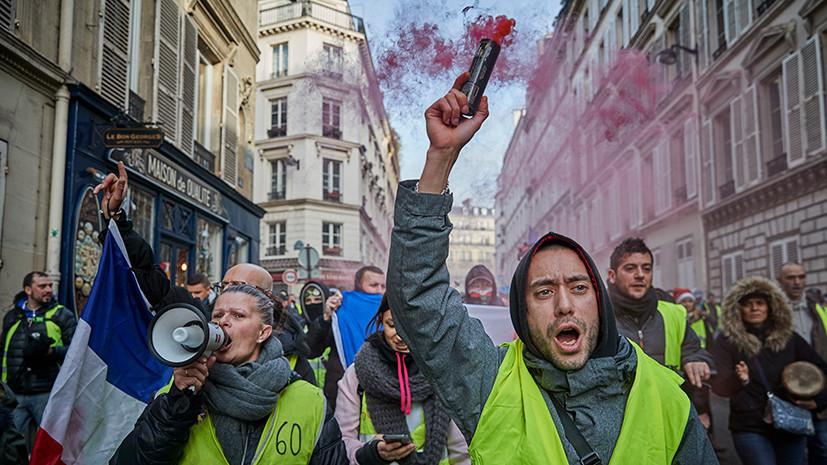 Уловки и перекрытые шоссе: как «жёлтые жилеты» провели шестую массовую акцию по всей Франции