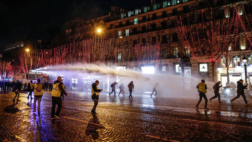 Число задержанных в ходе протестов «жёлтых жилетов» во Франции возросло до 220