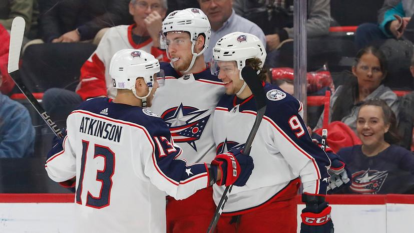 Шайба и две передачи Панарина помогли «Коламбусу» обыграть «Филадельфию» в регулярном чемпионате НХЛ