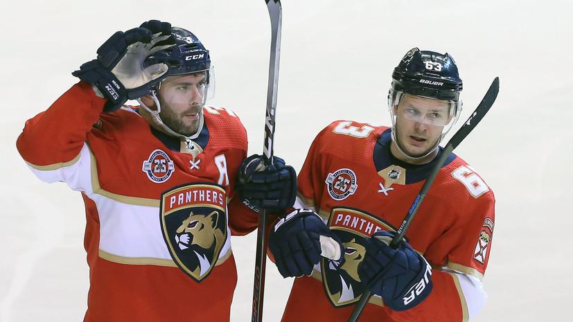 Шайба Дадонова принесла «Флориде» победу над «Детройтом» в регулярном чемпионате НХЛ