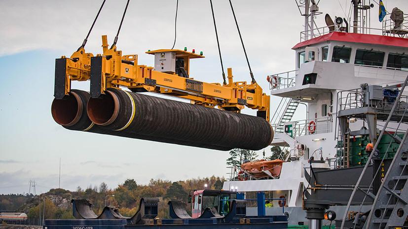 Судно Pioneering Spirit начало укладку «Северного потока — 2» в Финляндии