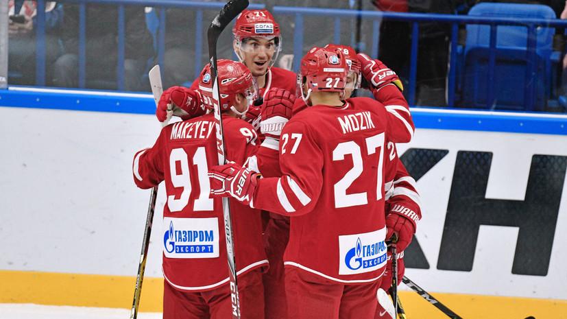 «Витязь» одержал шестую победу подряд в КХЛ
