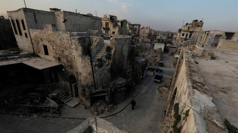 Боевики обстреляли Алеппо и населённые пункты в трёх провинциях САР