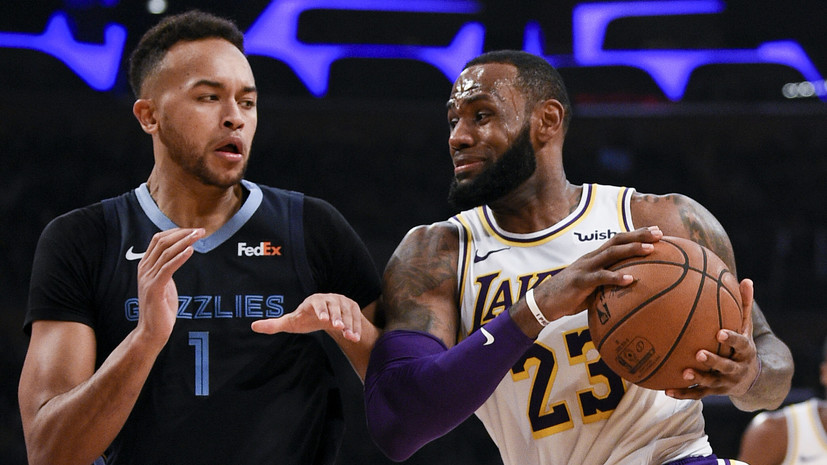 Дабл-дабл Джеймса не спас «Лейкерс» от поражения в матче НБА с «Мемфисом»