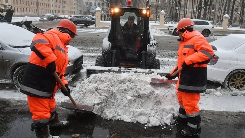В Москве вывезли около трёх миллионов кубометров снега с начала зимы