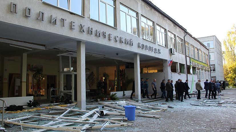 Аварийно-восстановительные работы в керченском колледже планируют завершить до конца года