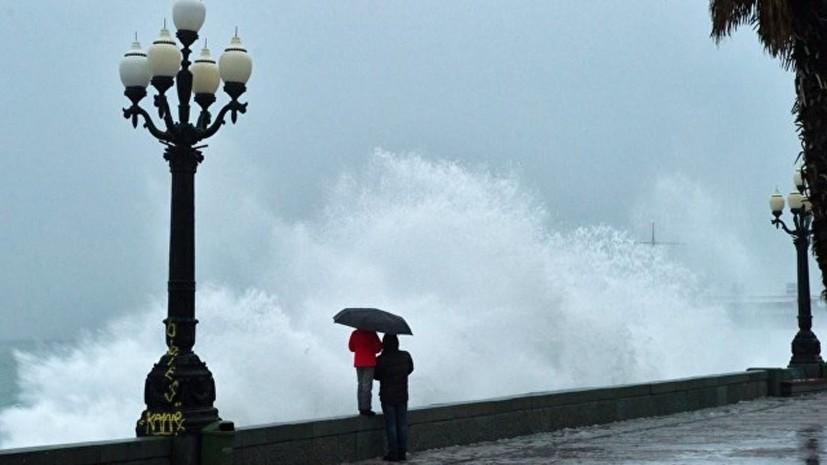 В Крыму объявили экстренное штормовое предупреждение