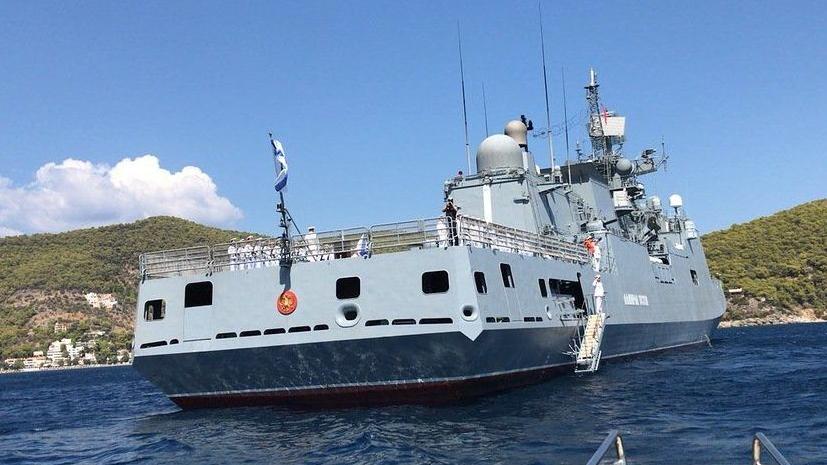 Фрегат «Адмирал Эссен» возвращается в Севастополь после выполнения задач в Средиземном море