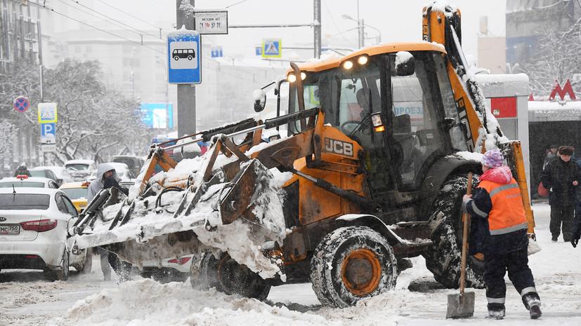 В Москве пешеход погиб после попадания под снегоуборщик