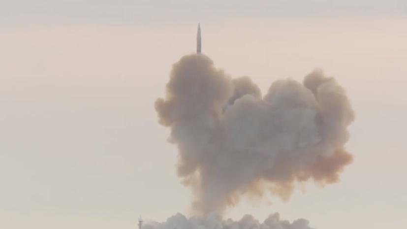 Опубликовано новое видео пуска ракеты комплекса «Авангард»