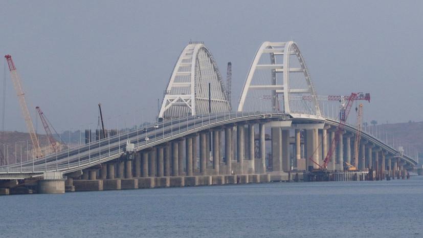 Фарватерные опоры Крымского моста обезопасили от столкновения с судами