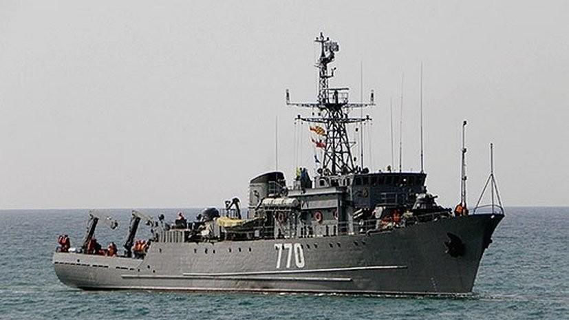 Морской тральщик «Валентин Пикуль» возвращается в Новороссийск из Средиземного моря