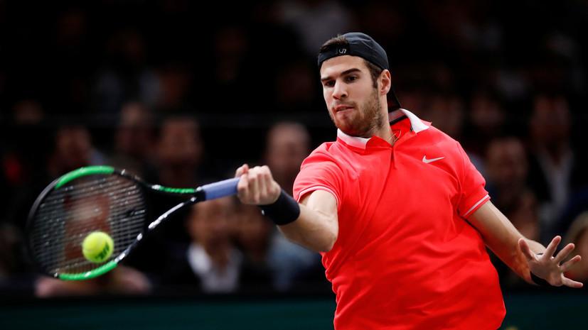 Хачанов обыграл Тима и вышел в полуфинал теннисного турнира в Абу-Даби