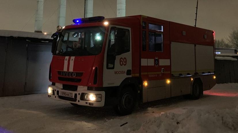 Источник: здание загорелось в центре Москвы