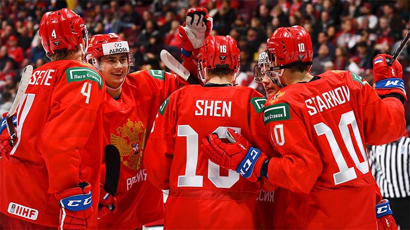 «Россияне — сильные конкуренты»: что говорили после стартового матча сборной РФ по хоккею на МЧМ